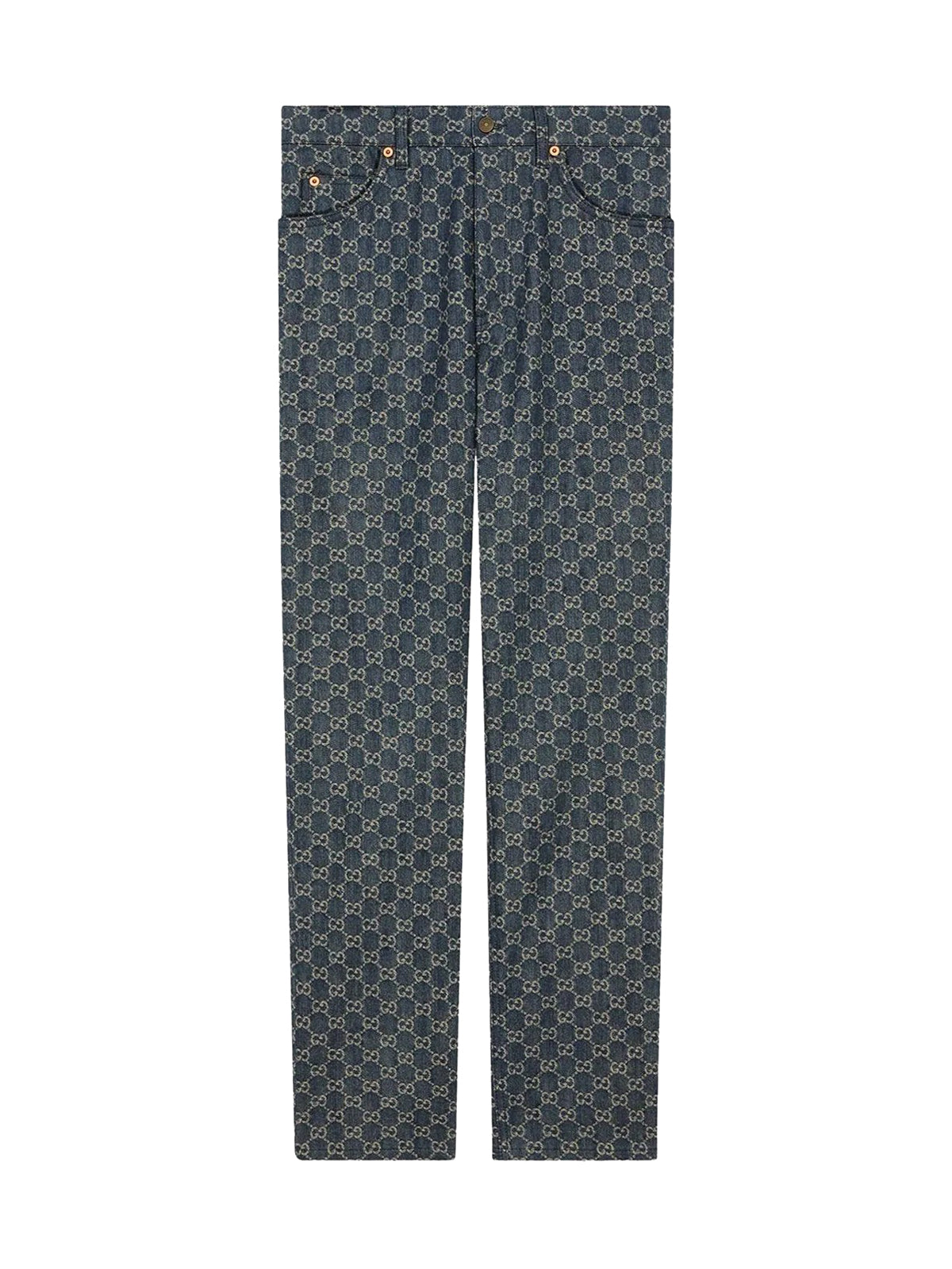 GG denim trousers