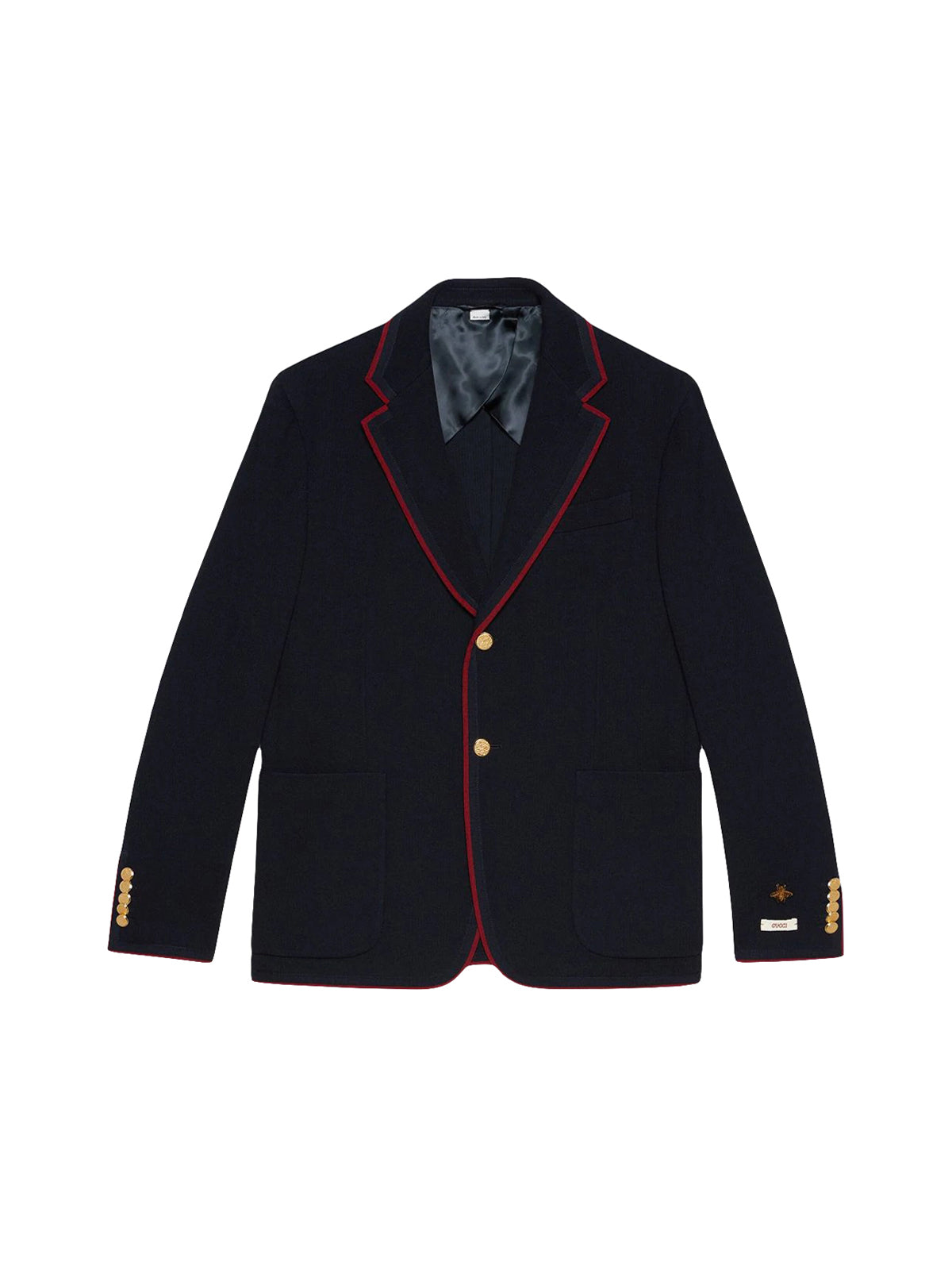 Blazer with contrasting edges
