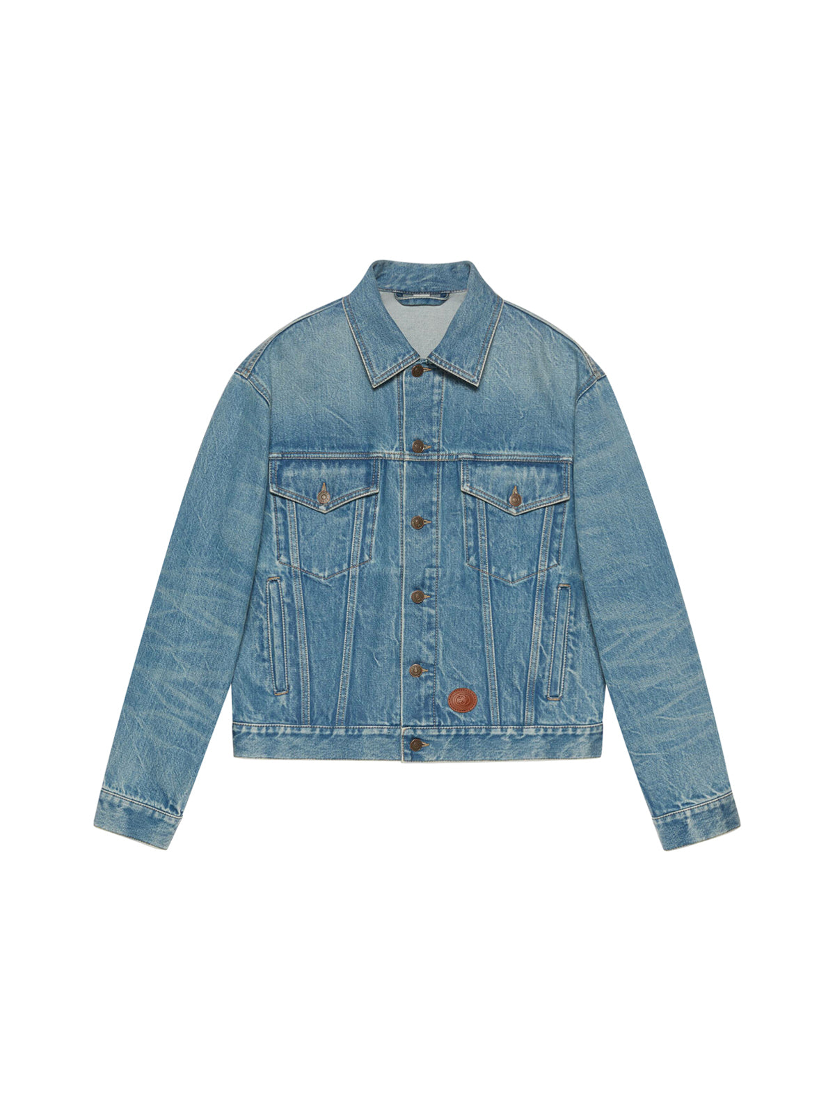 Donald Duck Disney x Gucci denim jacket in délavé effect with eco treatment