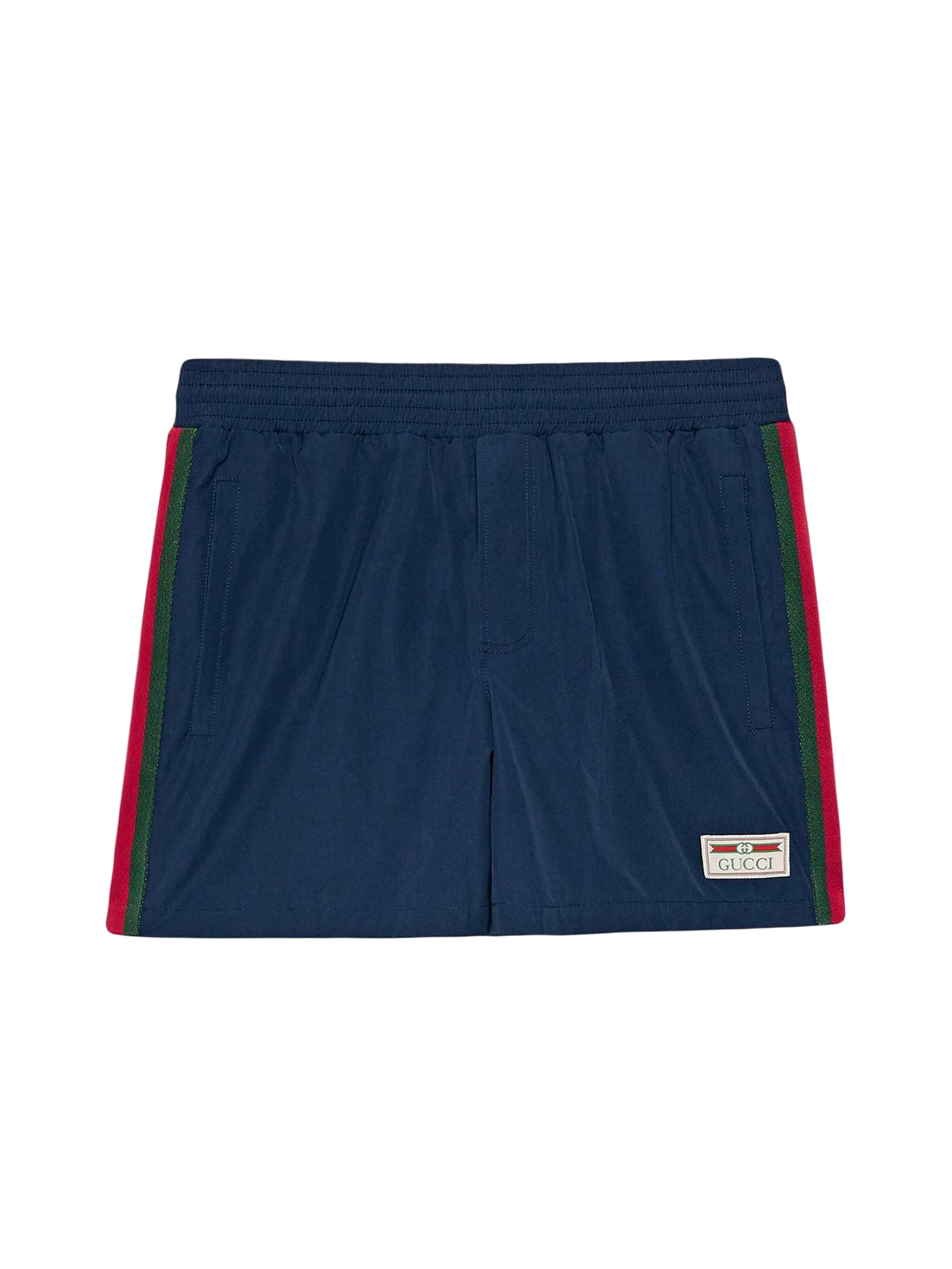 logo-patch swim shorts