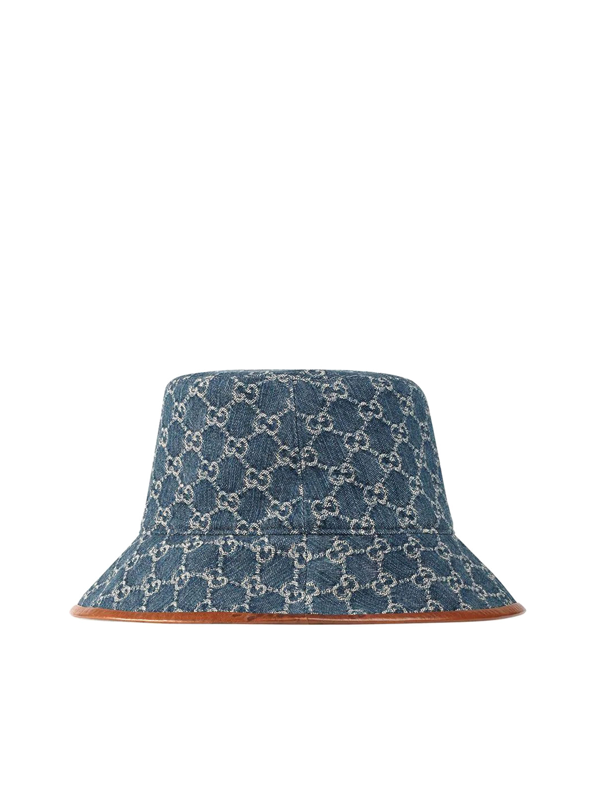 GG Supreme leather-trimmed bucket hat