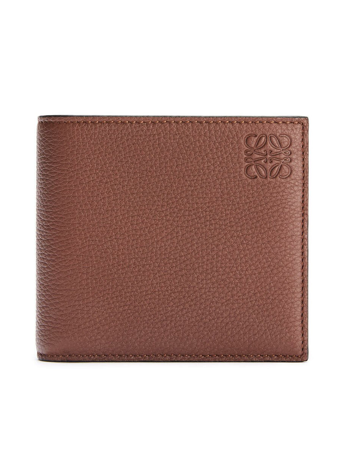 Bifold coin wallet in soft grained calfskin