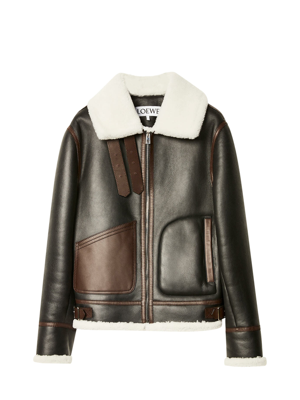 Aviator jacket in shearling