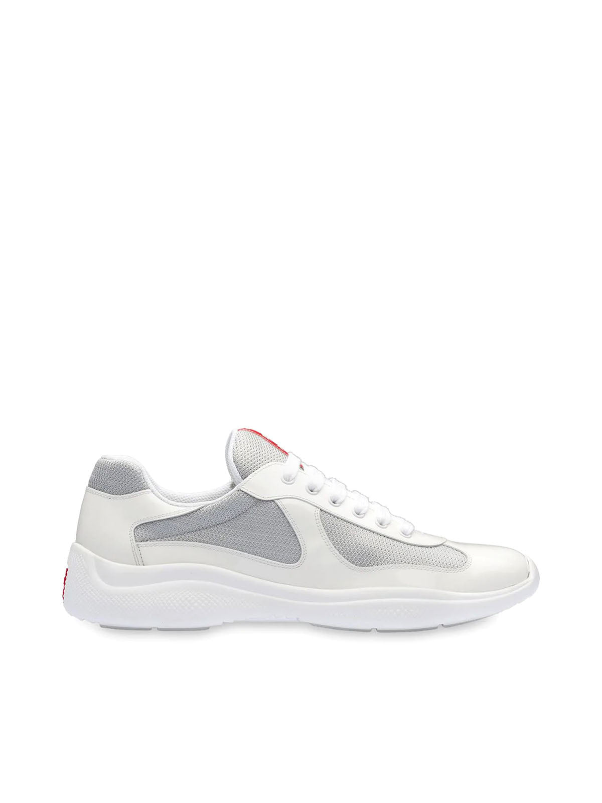 white Americas cup patent leather sneakers