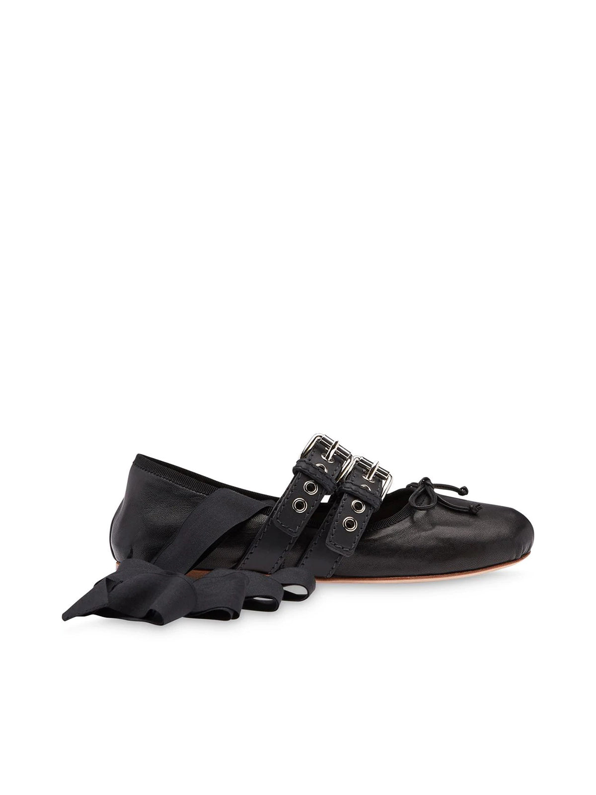 belted ballerina shoes