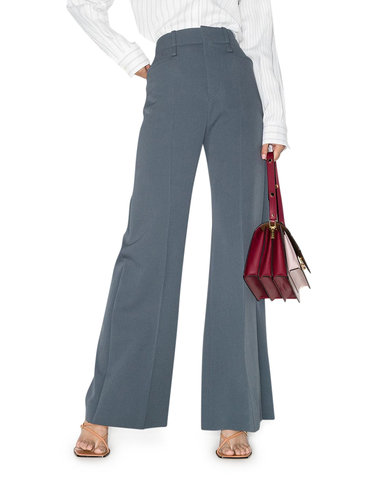 Wide pants in wool