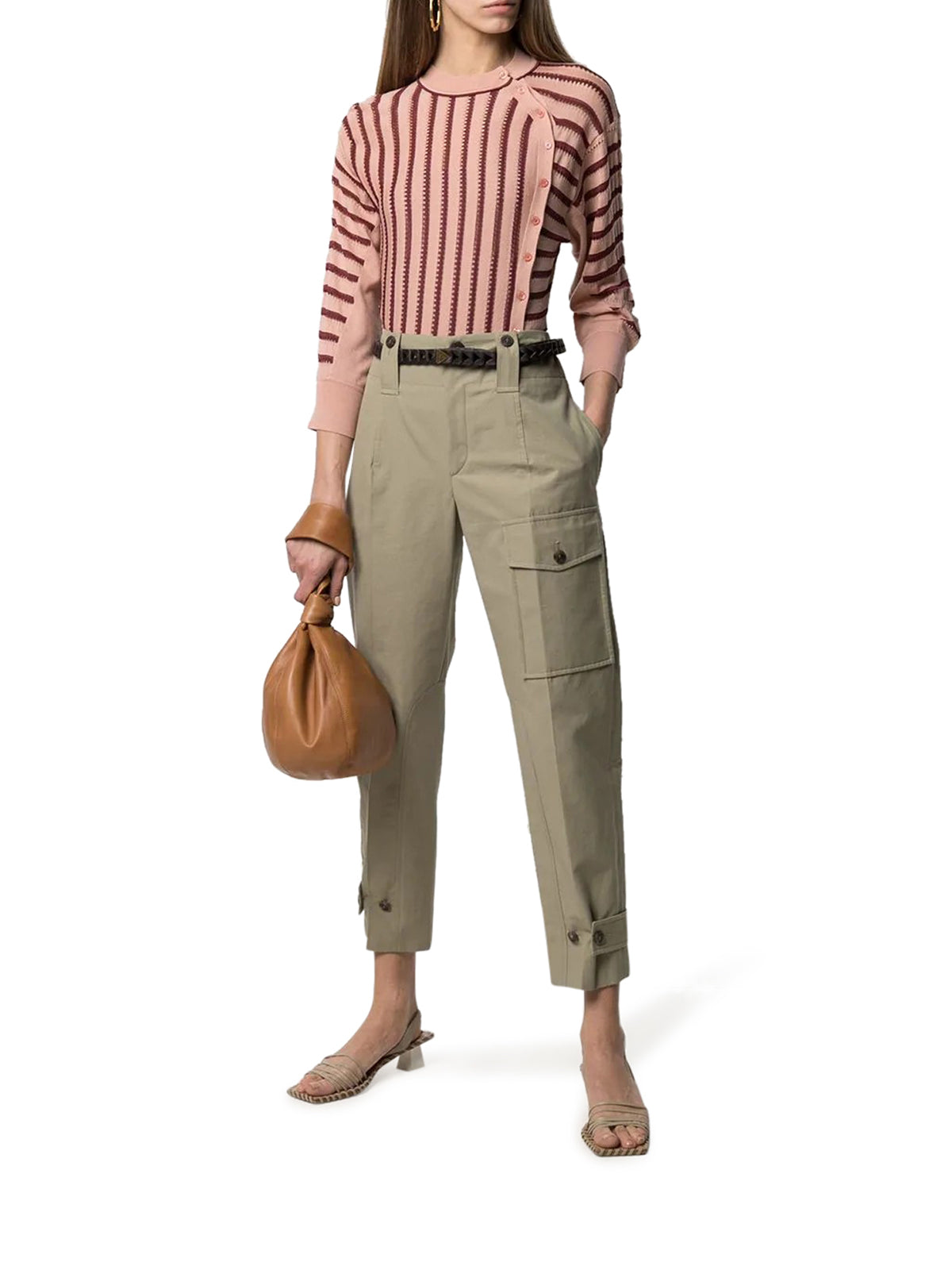 straight-leg cargo trousers