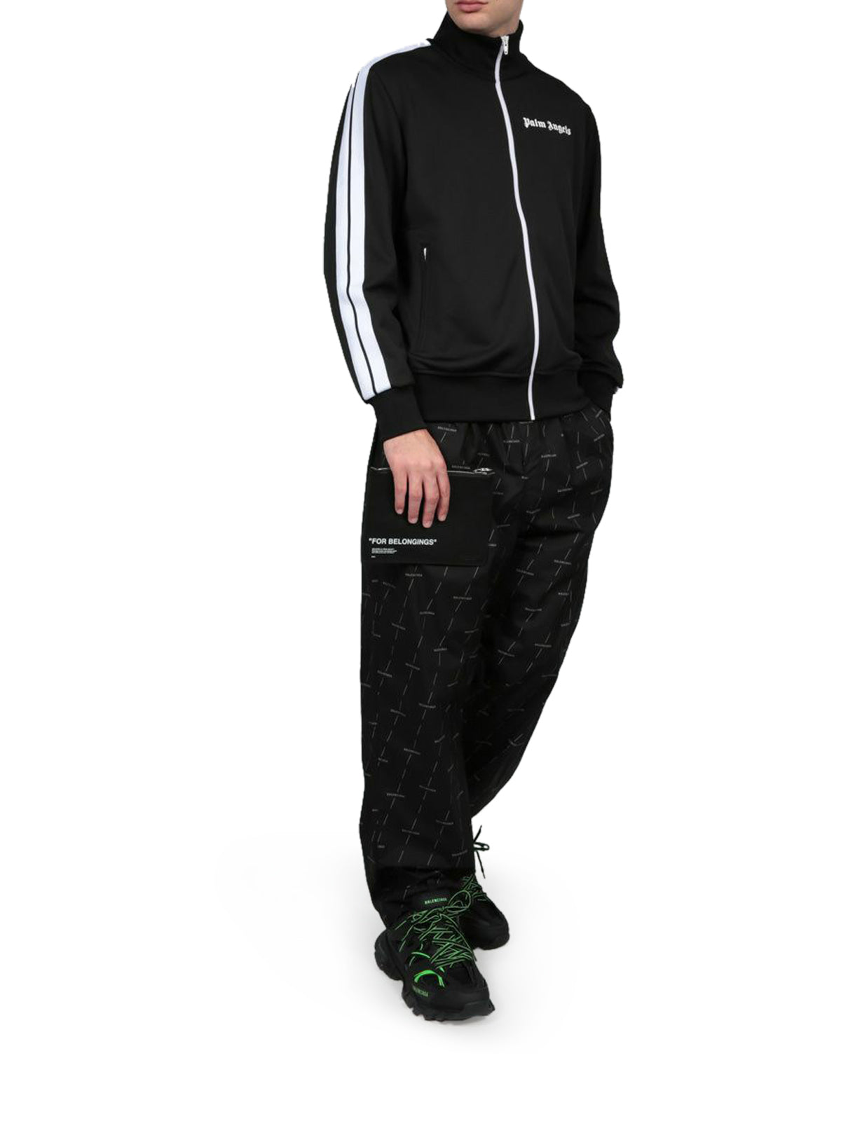LOGO PRINT COTTON JOGGING PANTS