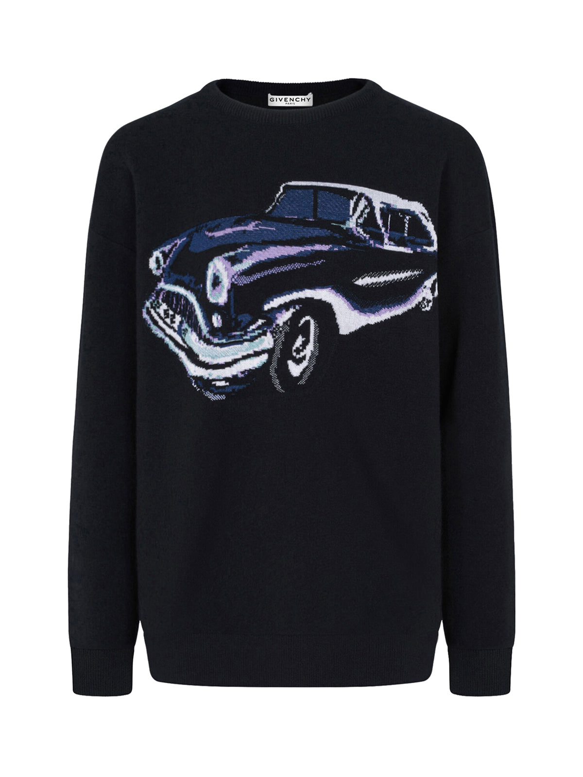 car motif intarsia-knit jumper