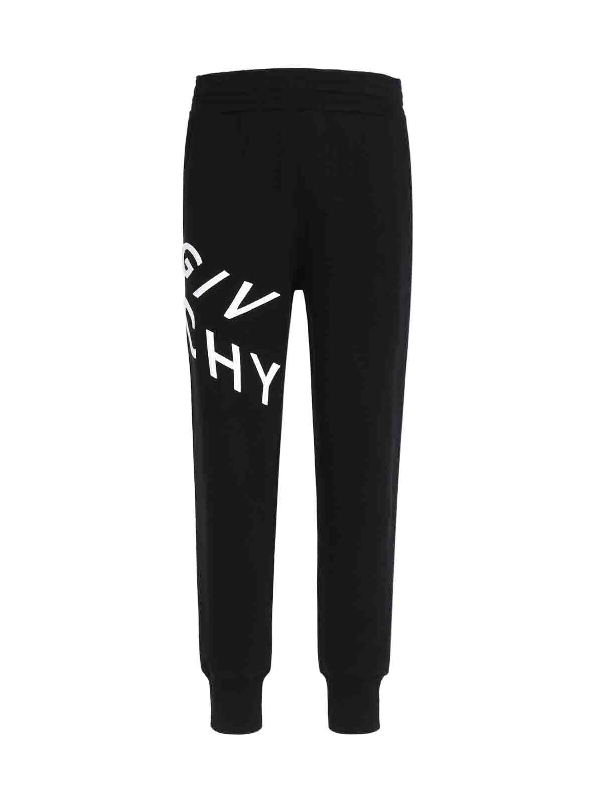 GIVENCHY REFRACTED EMBROIDERED JOGGER PANTS