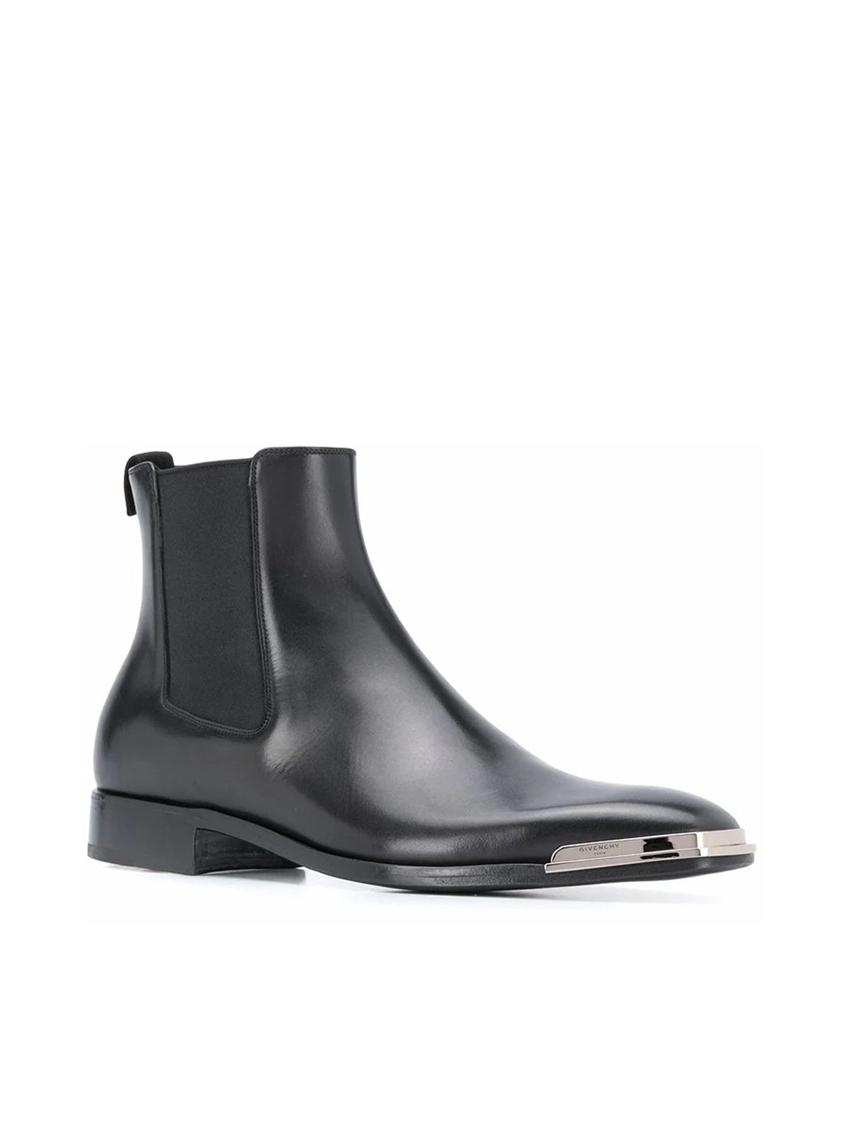 metal logo plate chelsea boots