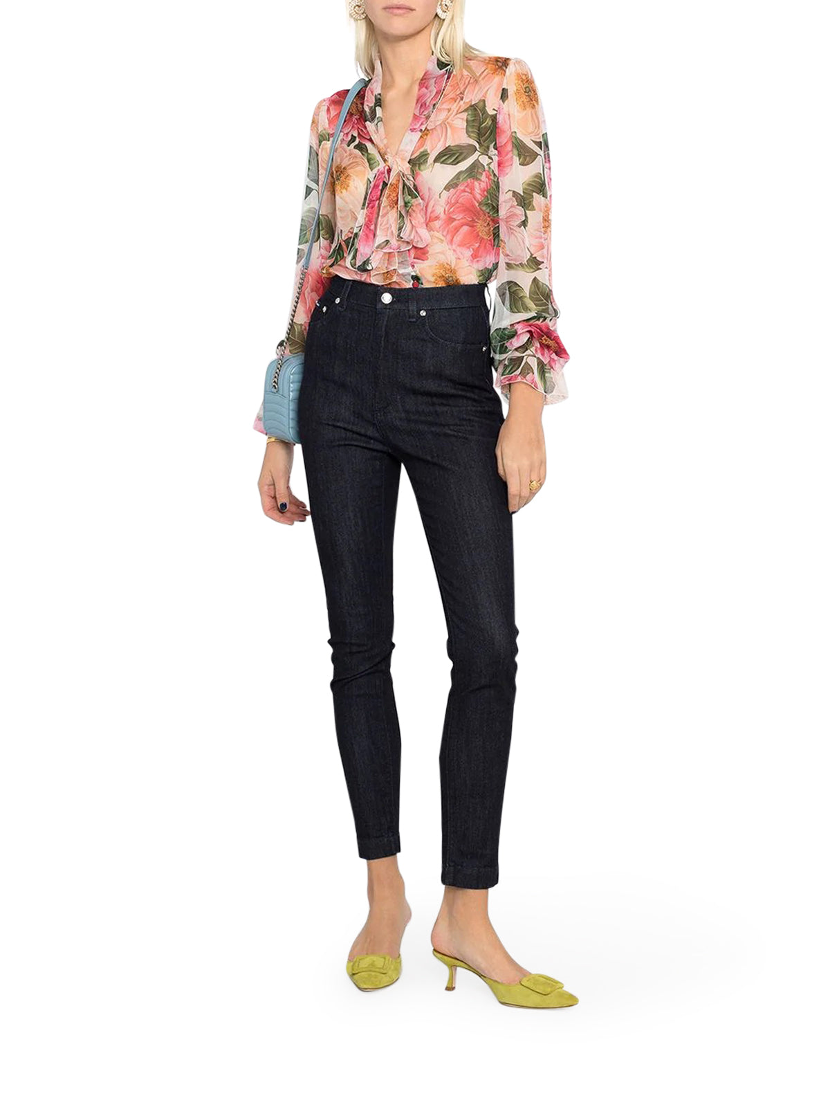 DOLCE & GABBANA BLOUSE WITH FLOWERS