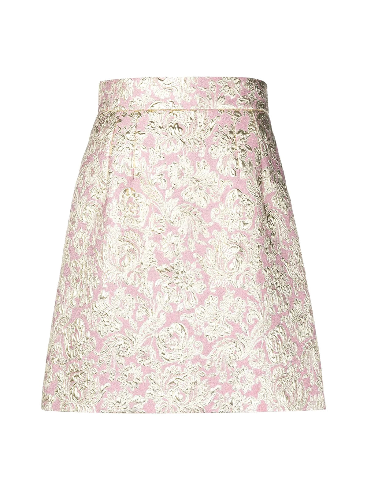 metallic finish jacquard skirt