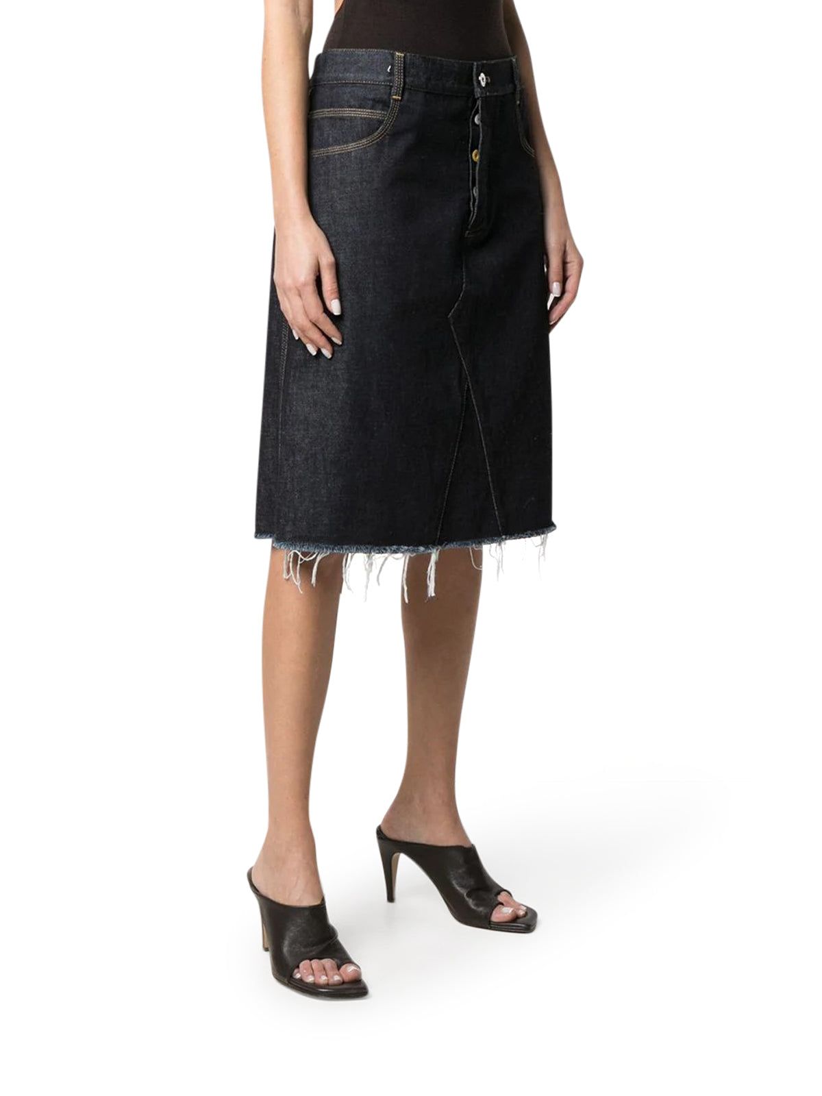 A-line mid-length skirt