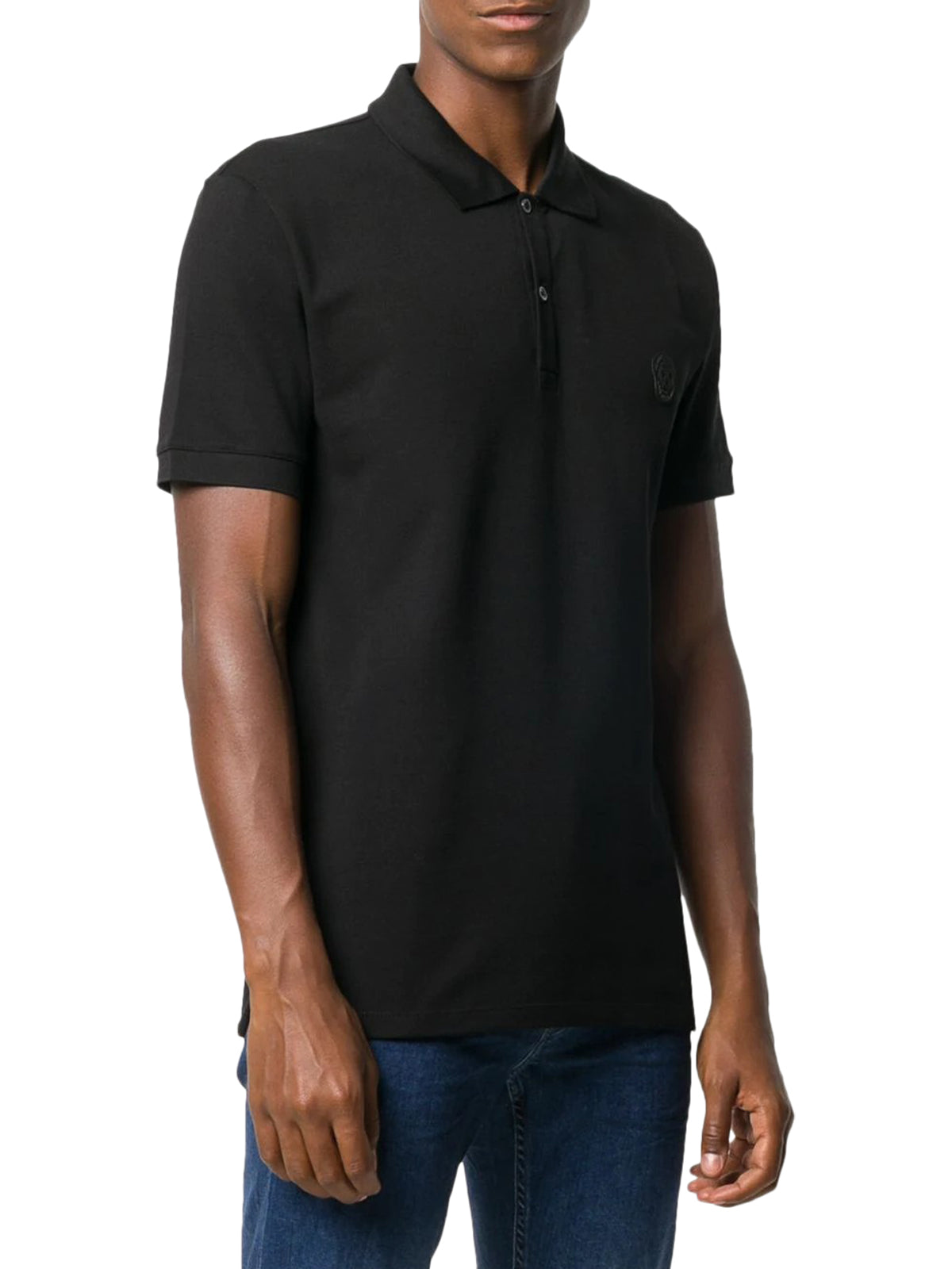 skull patch polo shirt