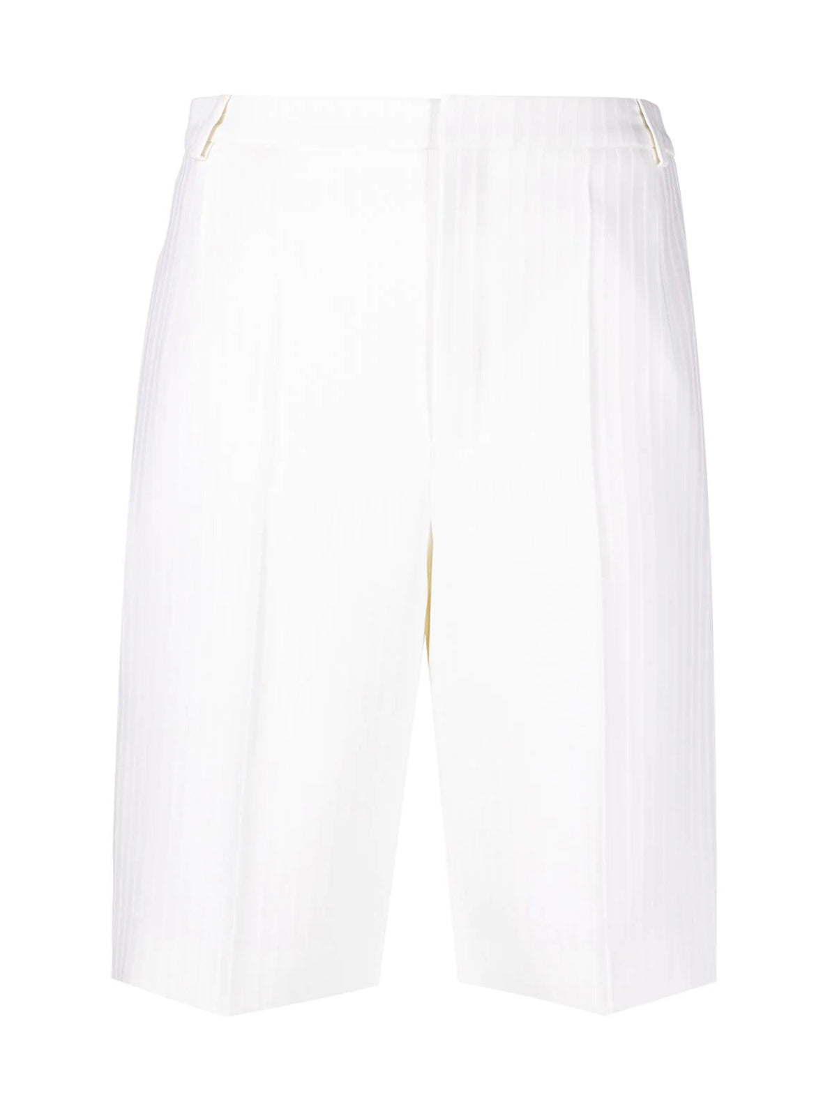 TAILORED WOOL BERMUDA SHORTS WITH CHAIN STRIPES