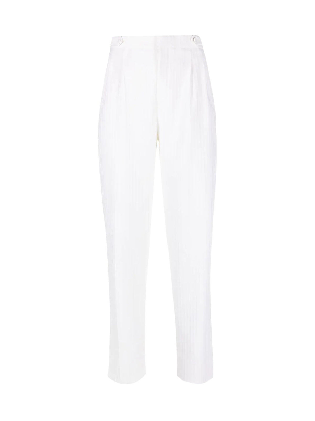 fine-ribbed virgin wool trousers
