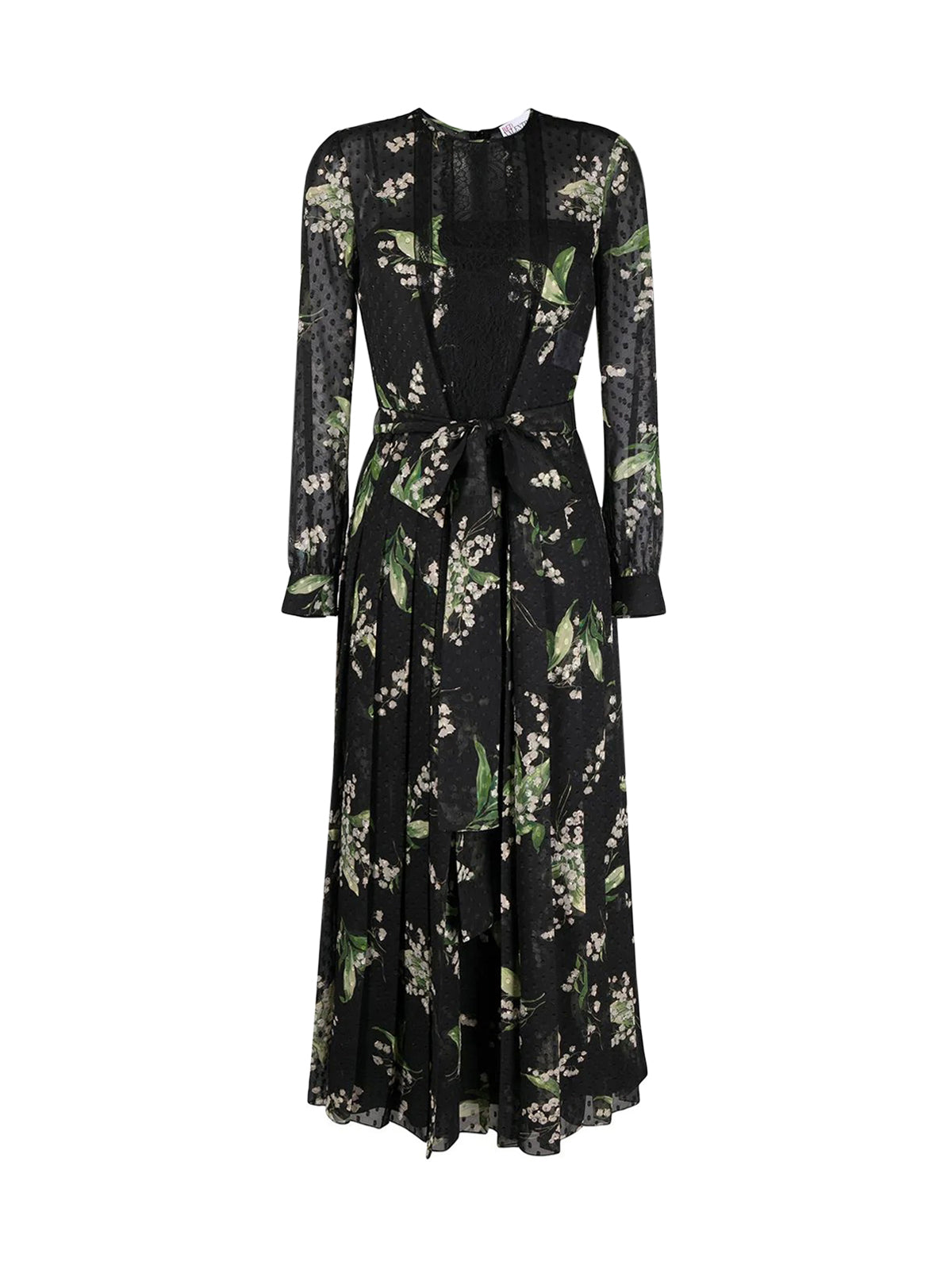 May Lily point d`esprit mid-length dress