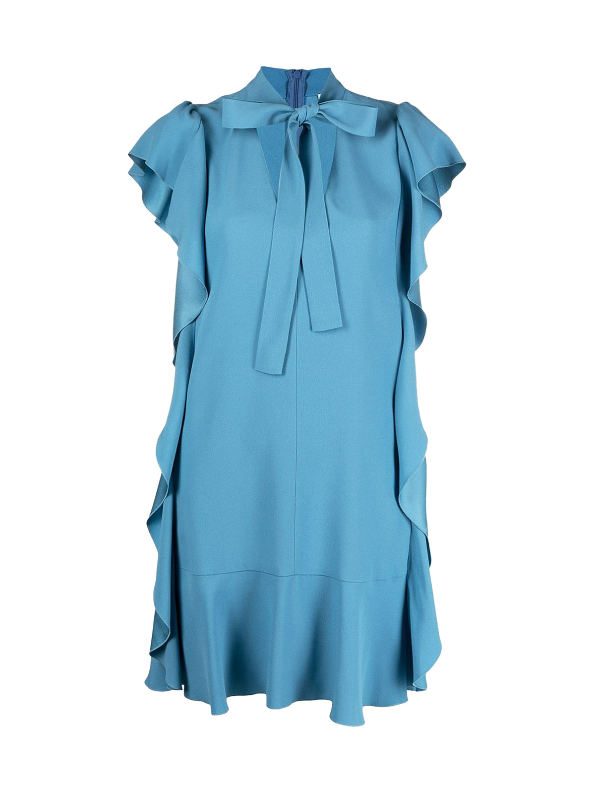 ruffle-trim dress