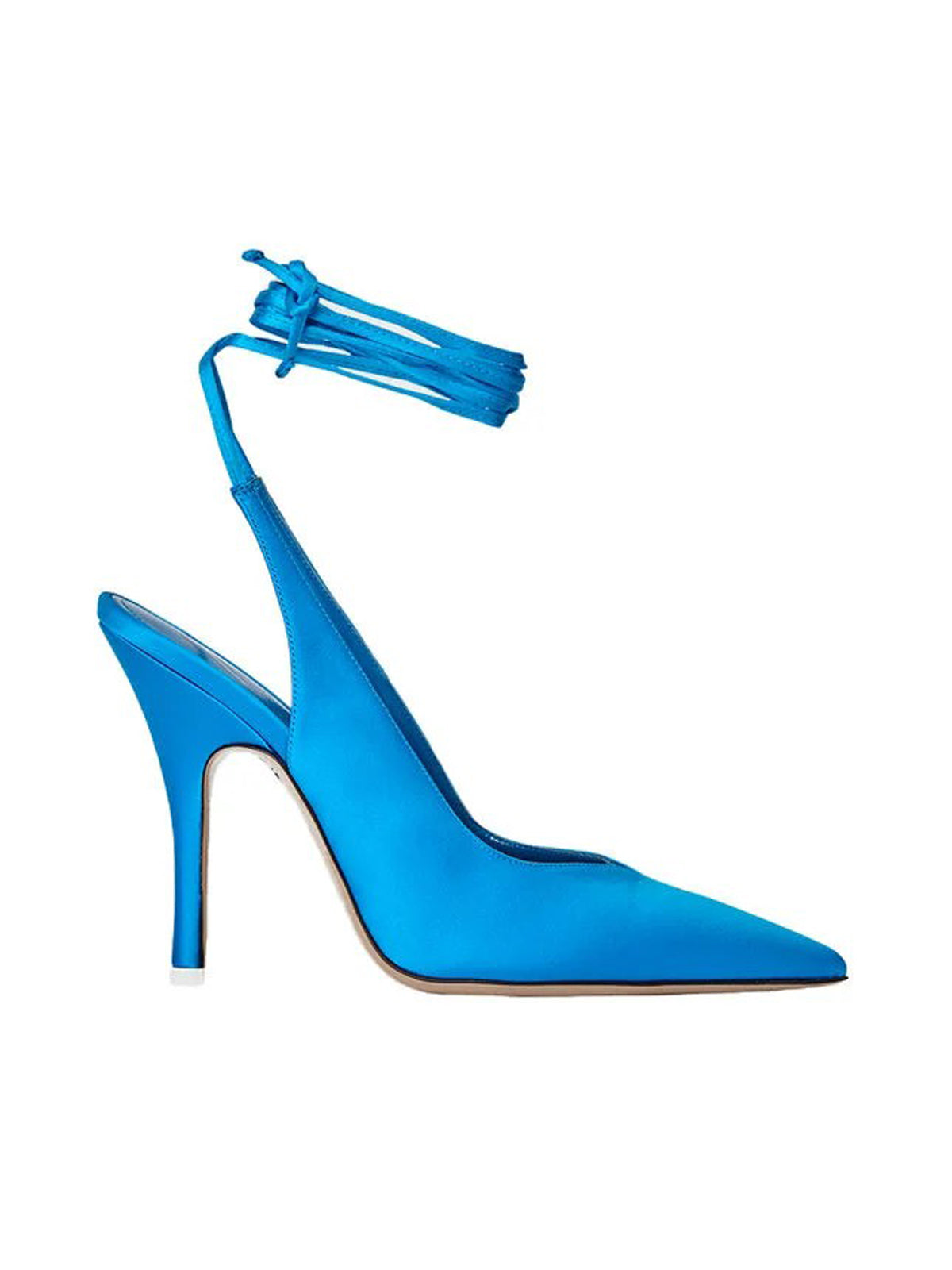 "SLINGBACK ""VENUS"" IN BLUE SATIN"