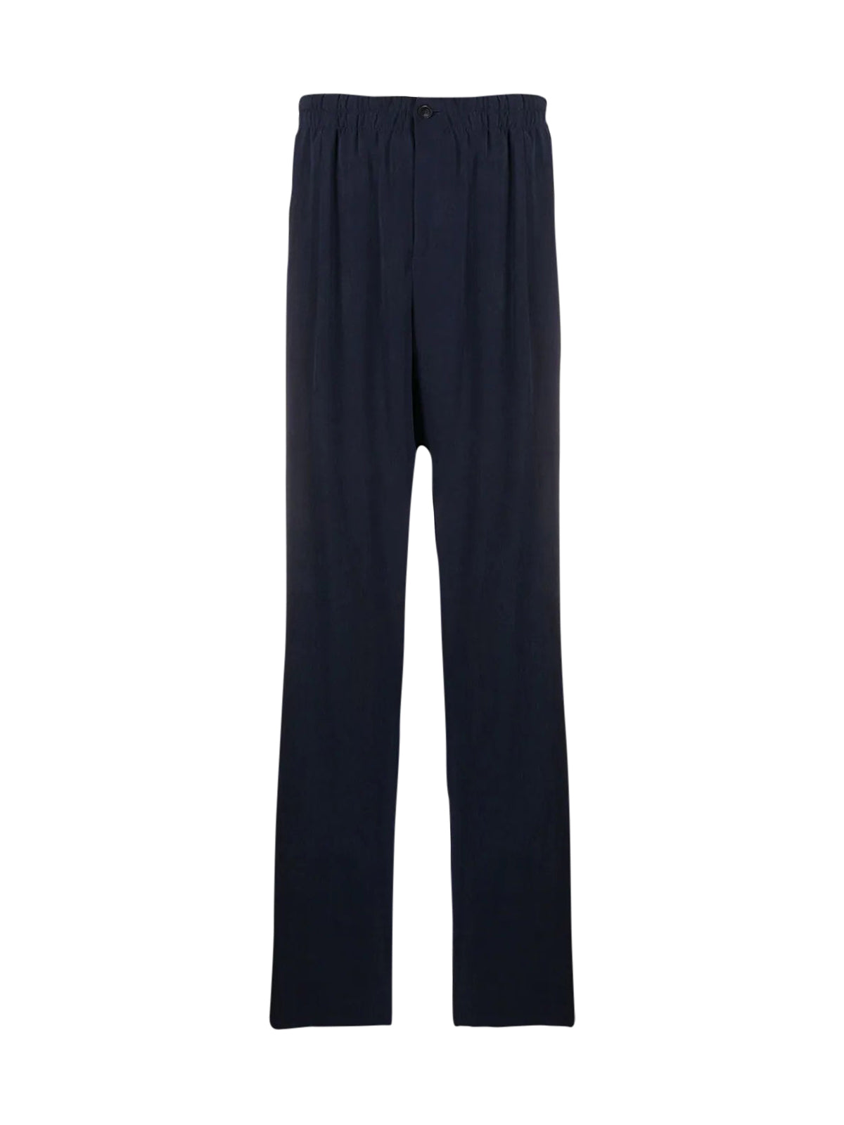 pleated straight-leg trousers