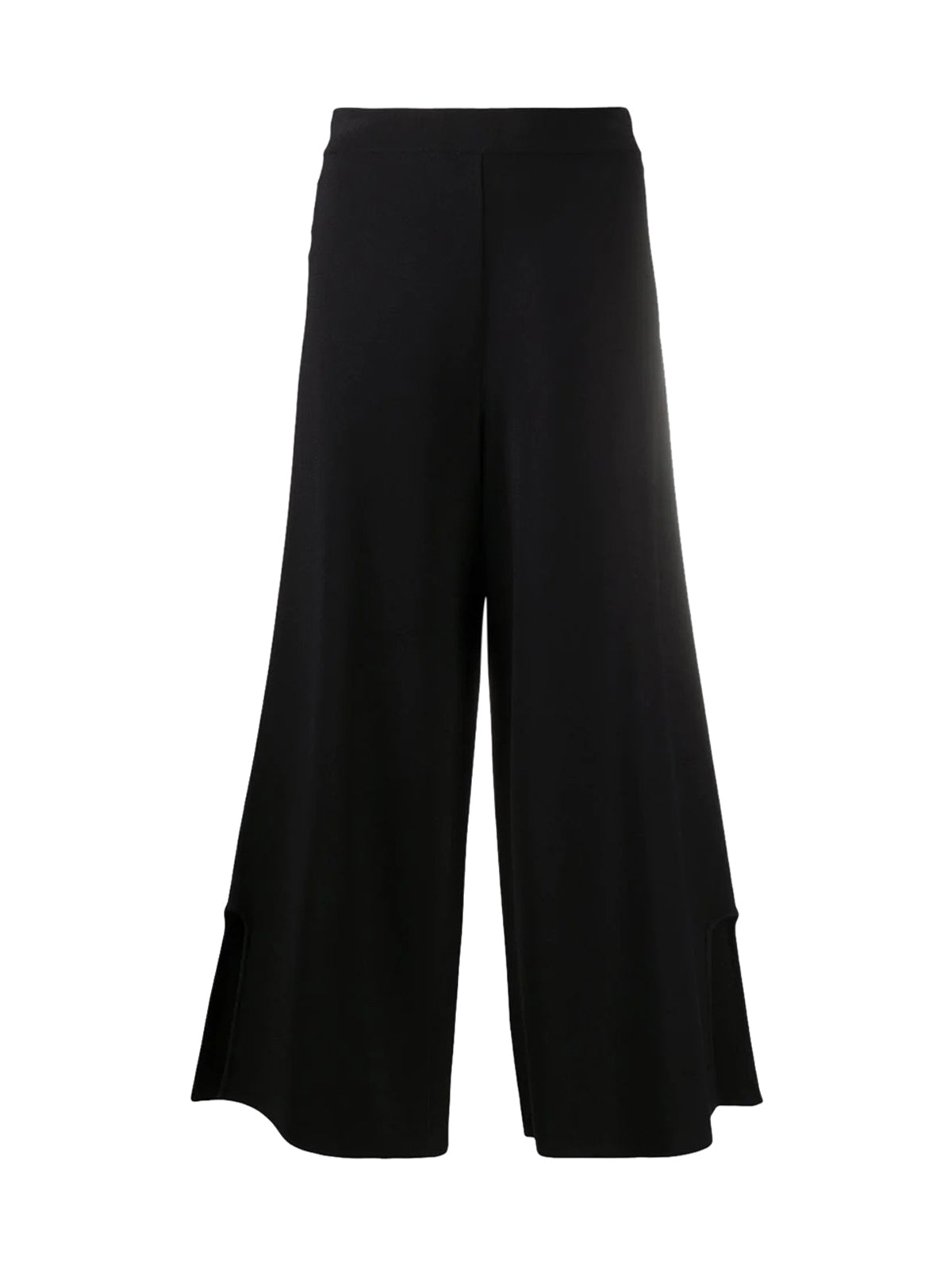 side-slit cropped trousers