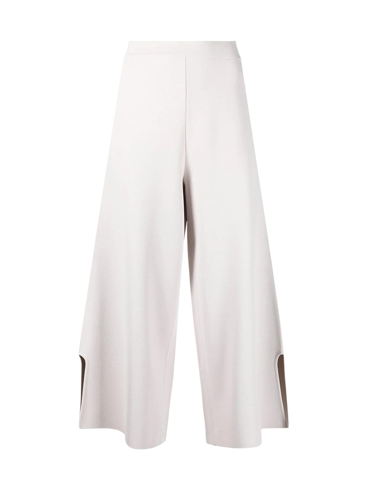 cropped knitted trousers