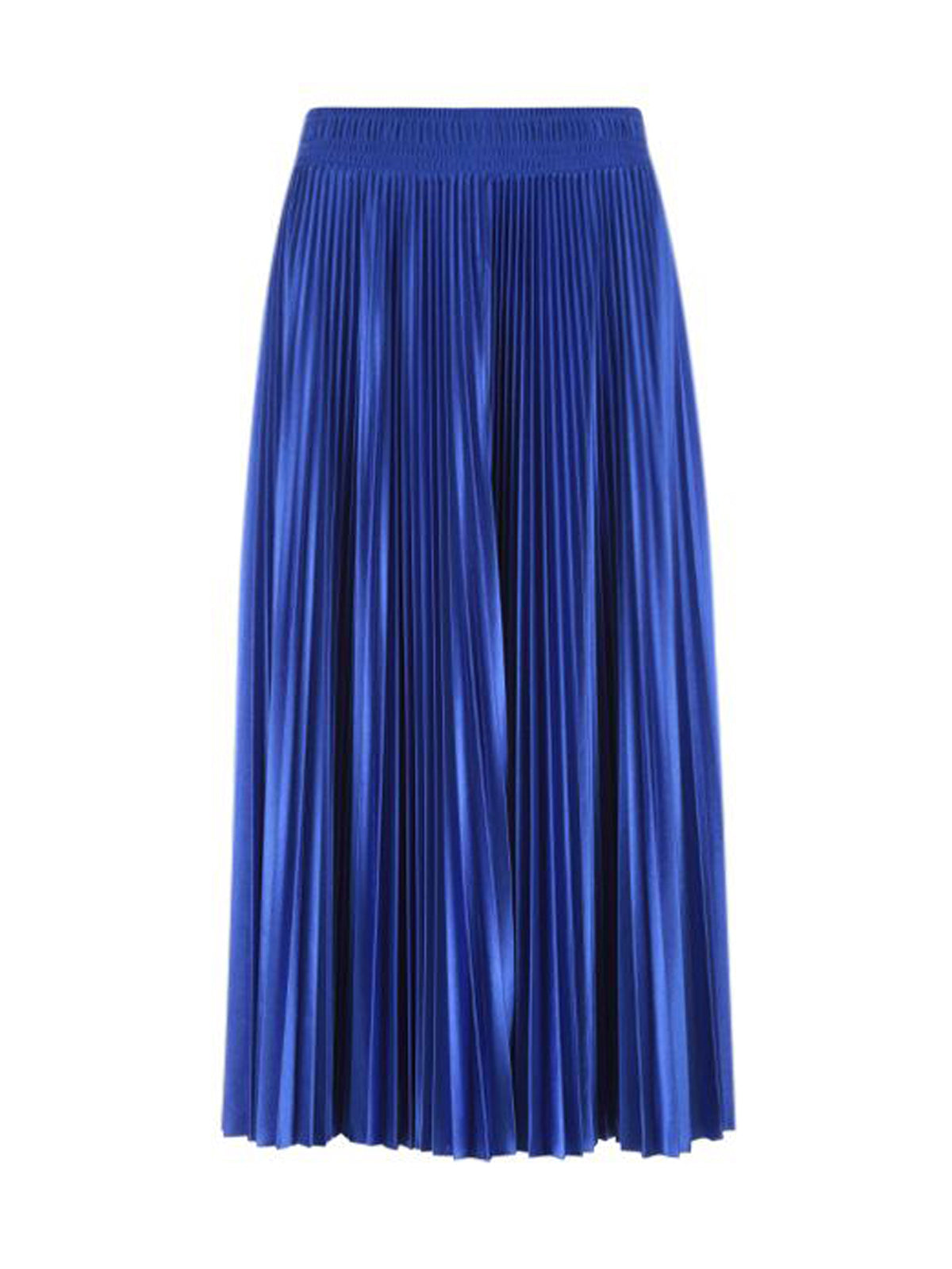 SHINY TECHNICAL JERSEY PLEATED SKIRT