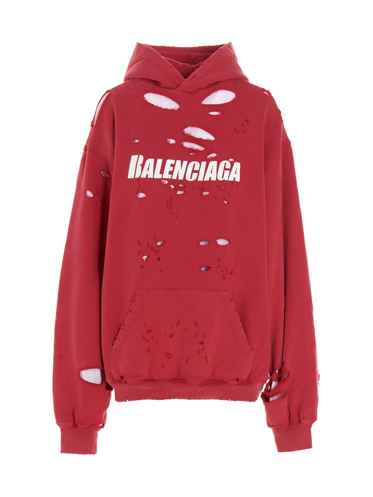 Balenciaga Cottons CAPS DESTROYED OVERSIZE HOODIE