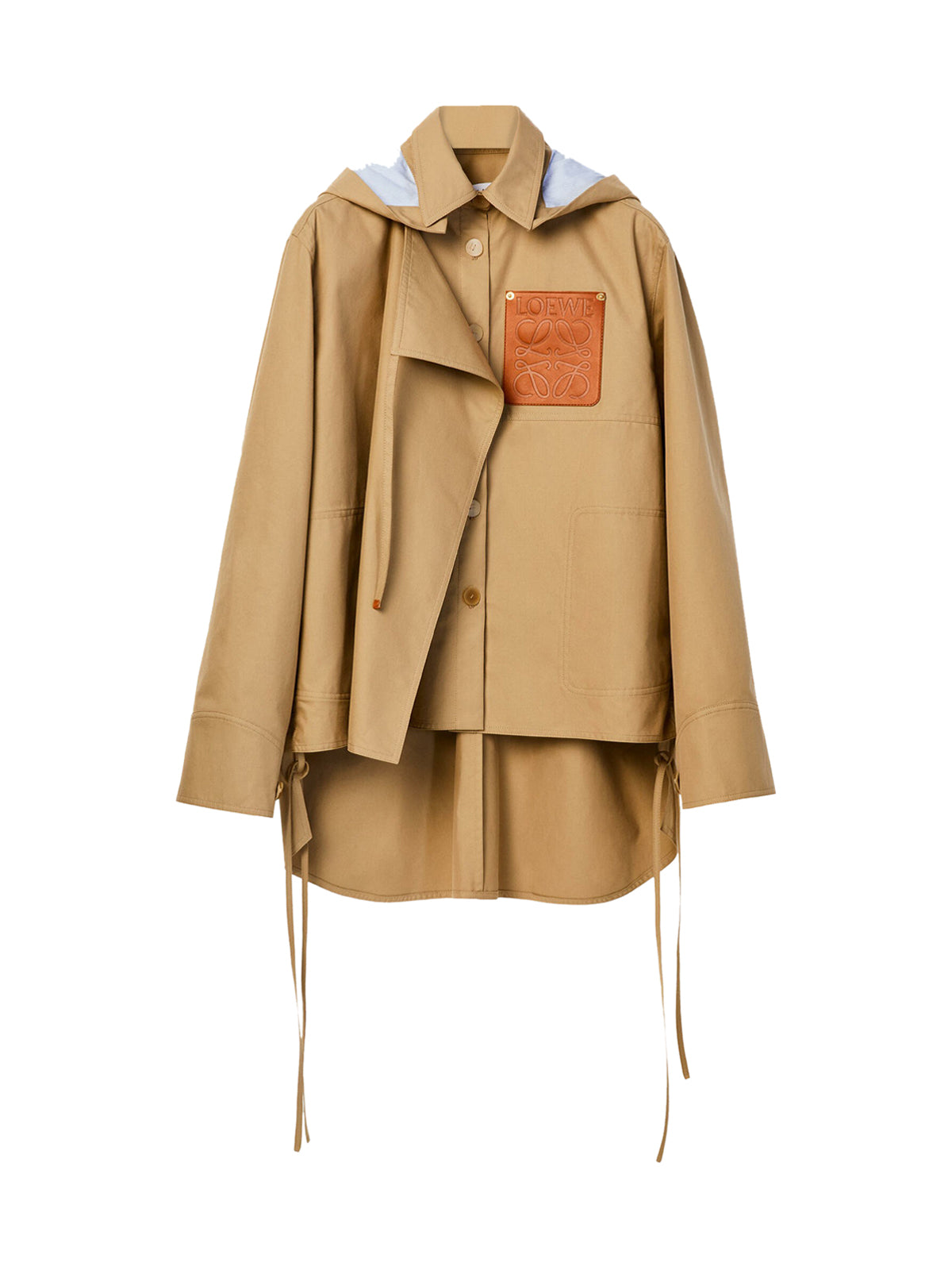Military hooded parka in cotton