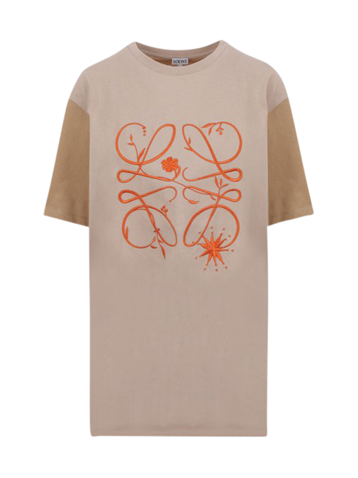 Loewe Cottons ANAGRAM TWO-TONE COTTON T-SHIRT