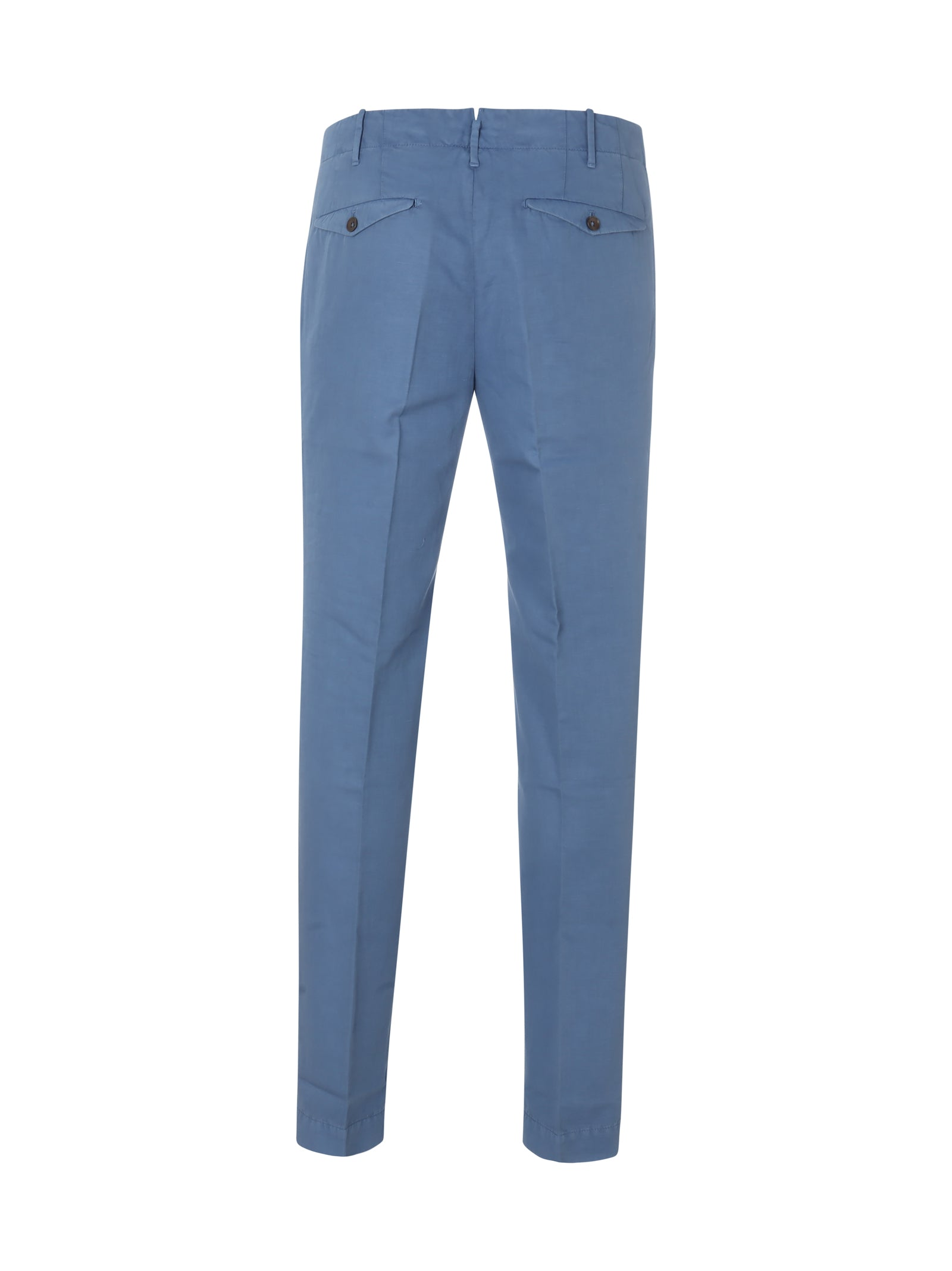 slim-fit tapered-leg trousers