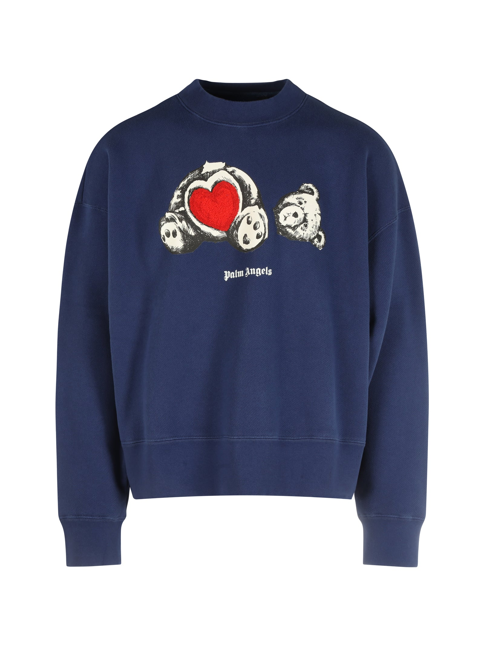 sweatshirt with print and embroidery