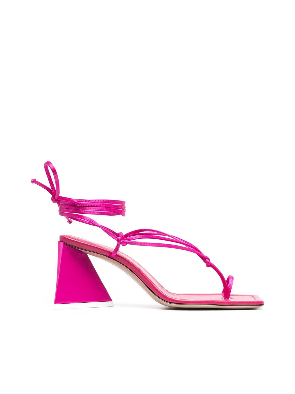 thong-strap self-tie sandals