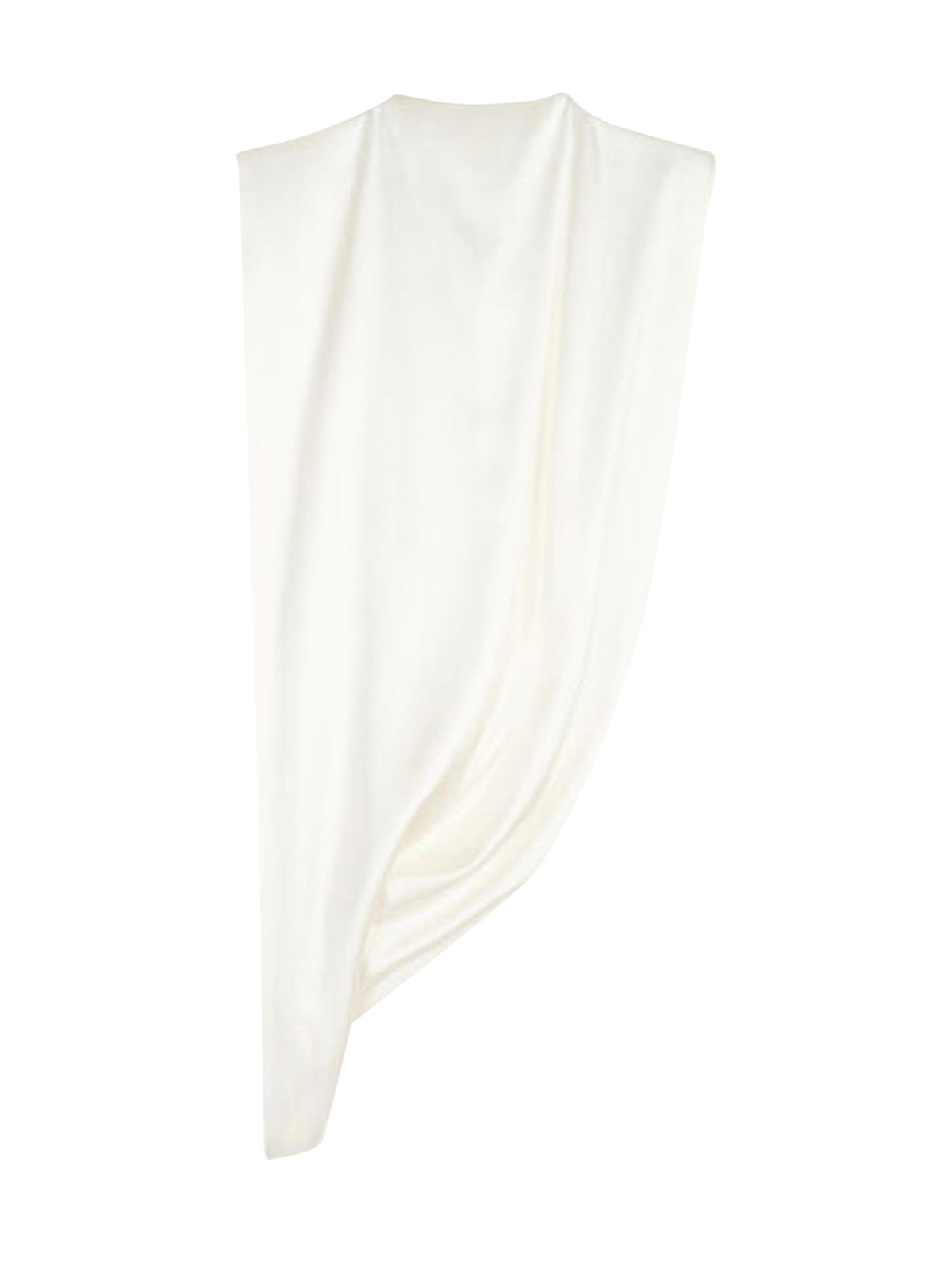 TOP ASYMMETRICAL DRAPE WITH JEWEL RING