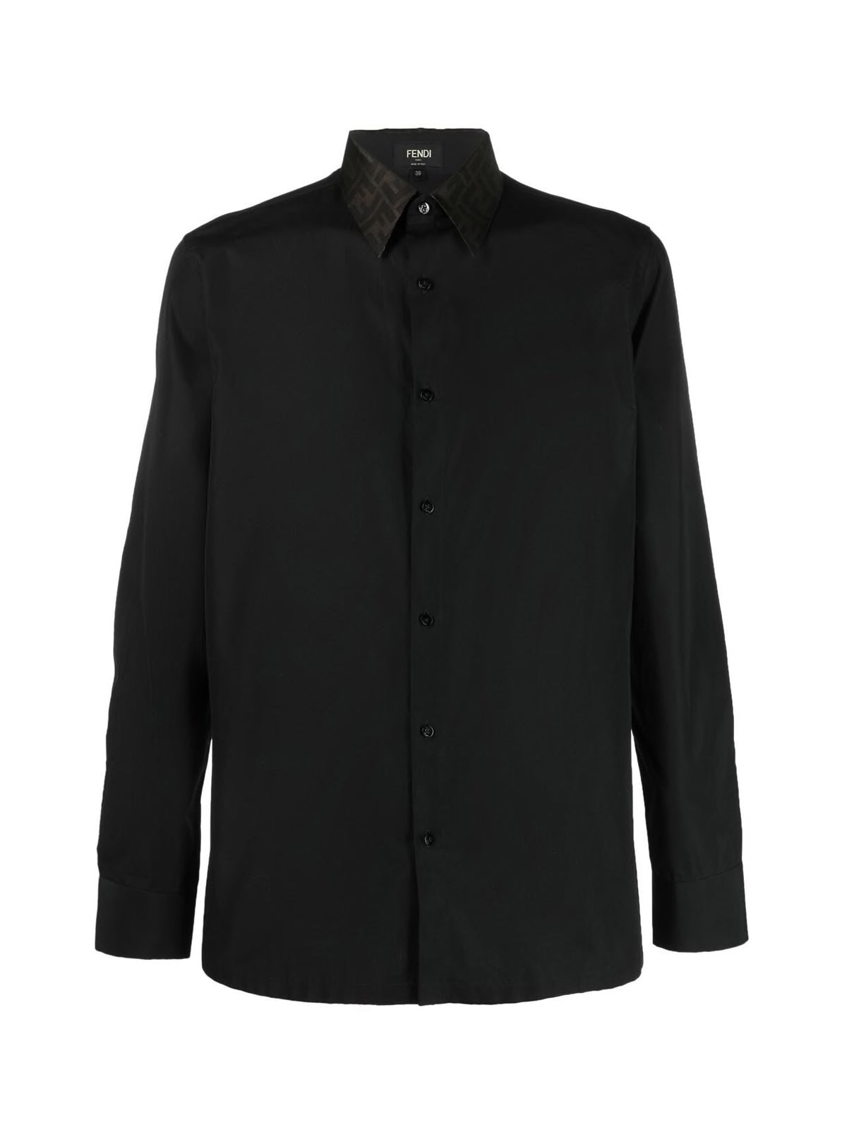 Shirt with contrast collar