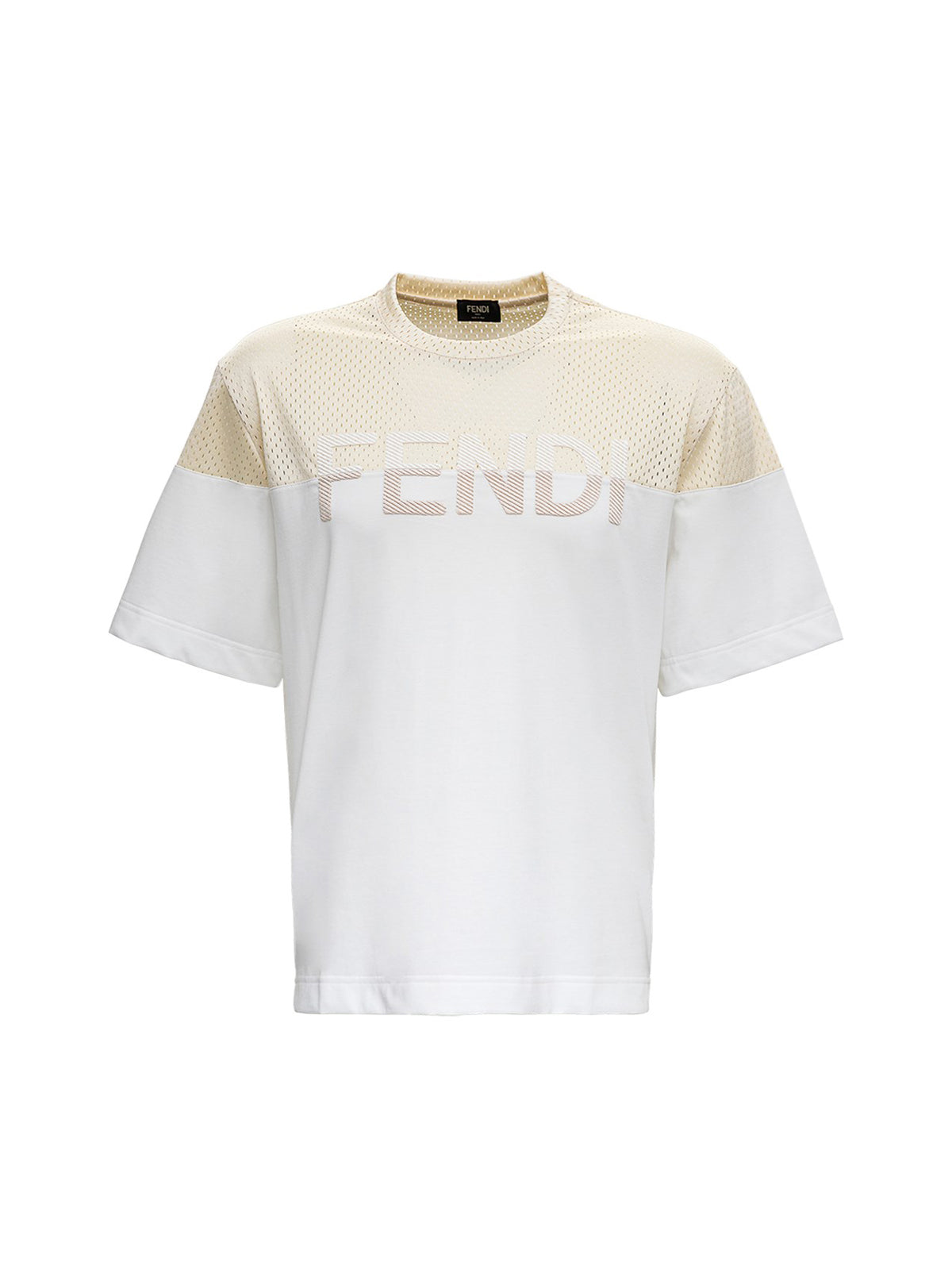 JERSEY T-SHIRT AND MESH WITH LOGO