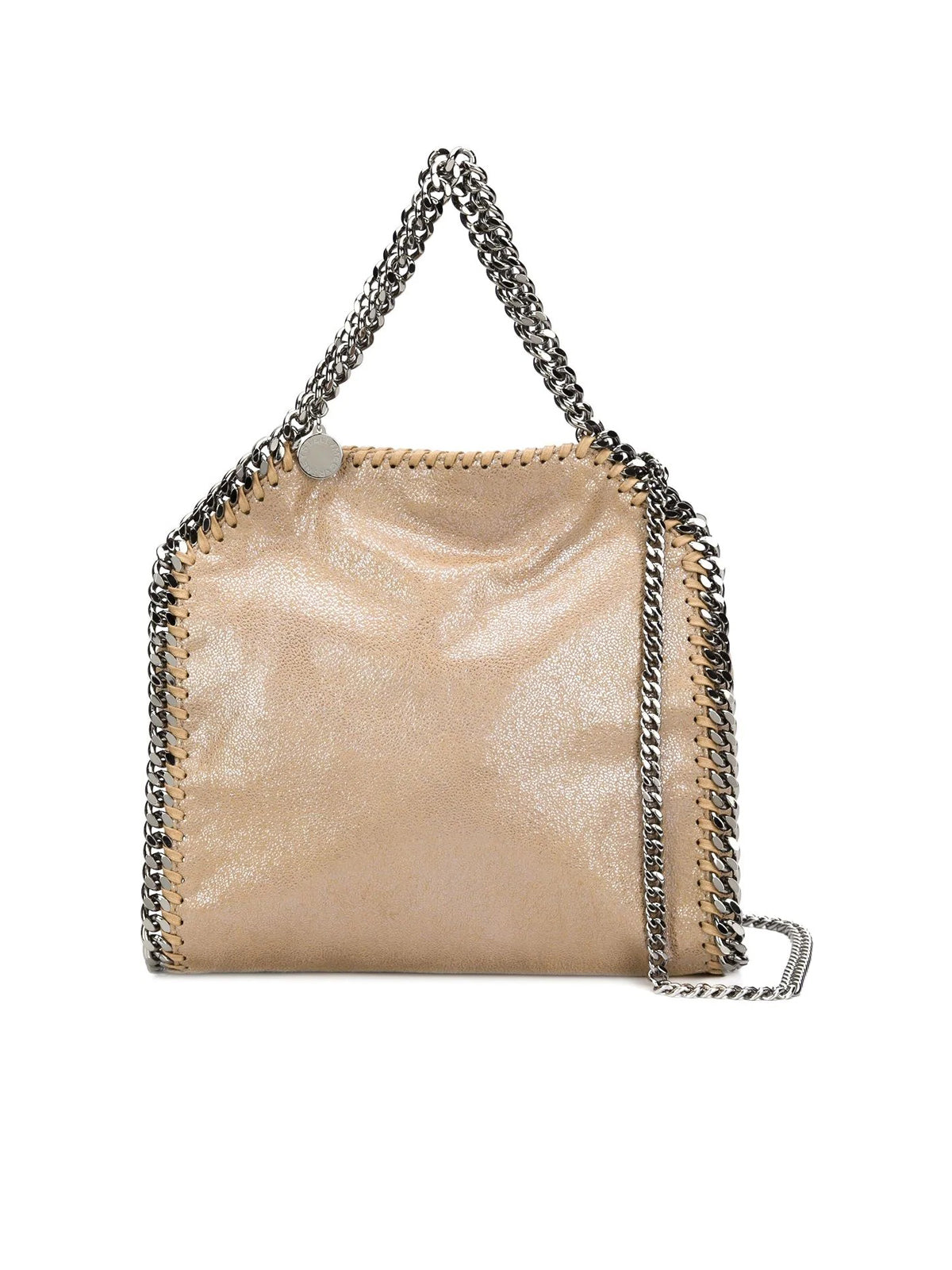 MINI TOTE FALABELLA 3 CHAIN METALLIC ECO-LEATHER