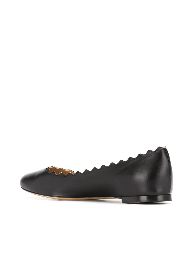 LAUREN SCALLOPED BALLERINAS