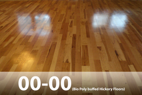 Hickory Wood Floor Finish buffed 2