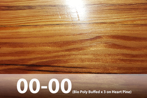 Natural Finish Heart Pine Floor