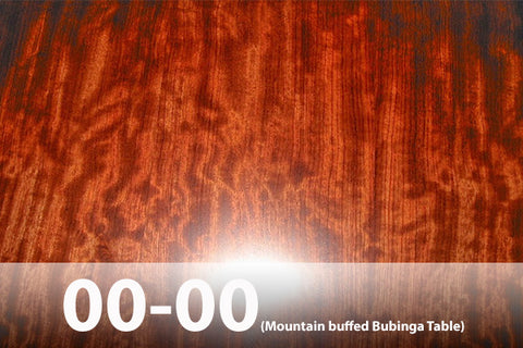 Bubinga Wood Finish buffed chatoyance