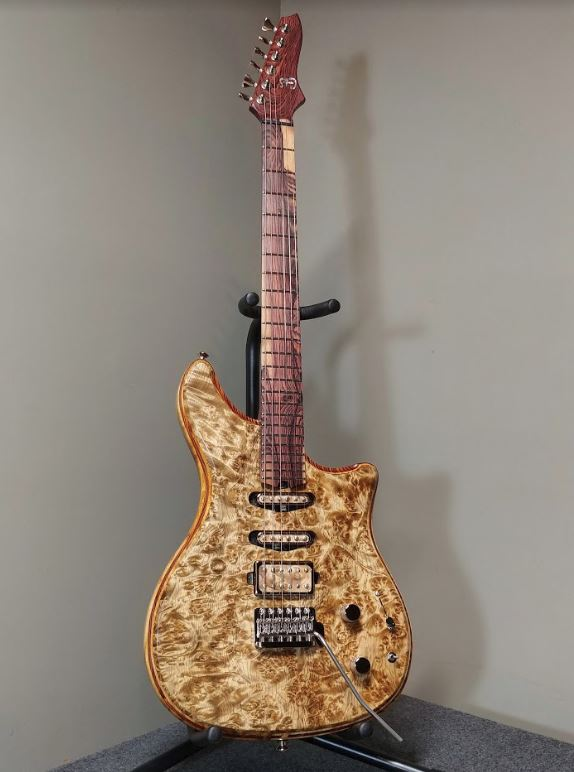 Custom Guitar wood finish