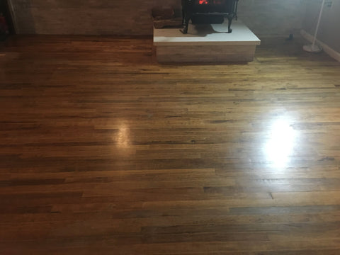 Natural Wood Floor Finish - Before