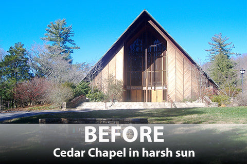 Cedar Chapel before XT in harsh sun