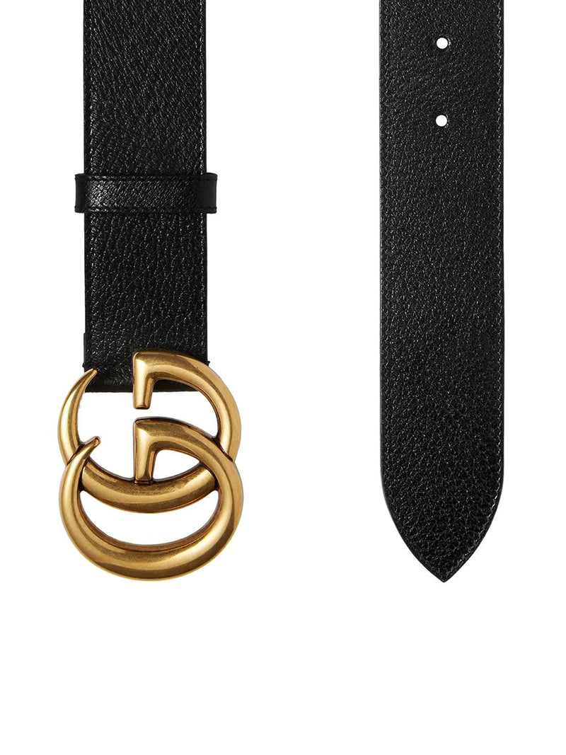 LEATHER BELT WITH GG BUCKLE 4 CM
