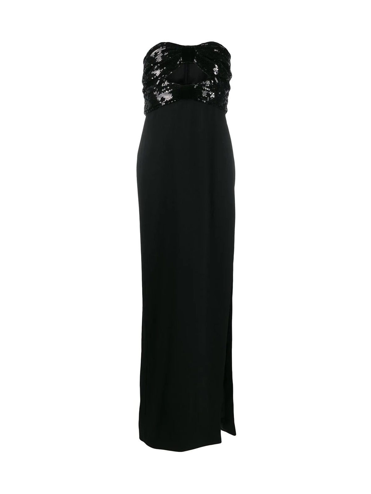 sequin-embellished evening gown