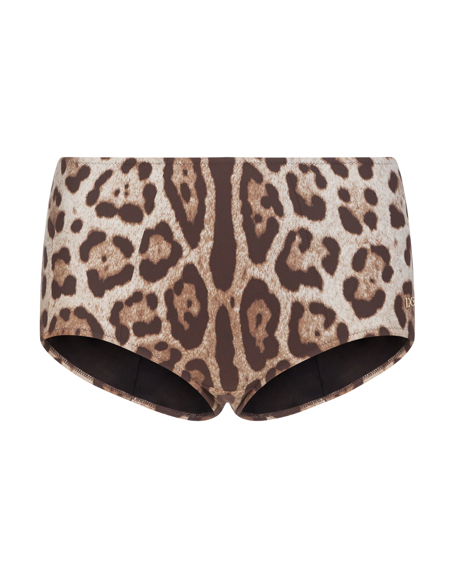 leopard print high-waisted bikini bottoms