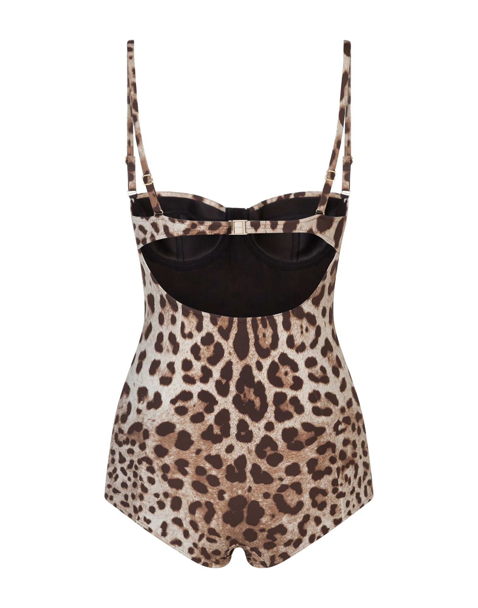 leopard print one-piece swimsuit