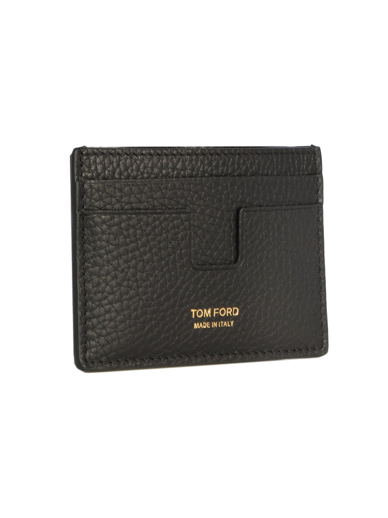 pebbled leather card holder